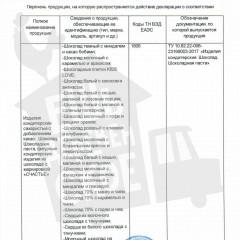 Декларация о соответствии_шоколад_Приложение 1_лист 1