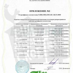 Приложение № 2 BELORGANIC.RU.-IKC31.0003