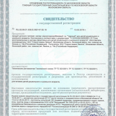 Свидетельство о гос. регистрации НЕКТАР ЧЕРНОПЛОДНОРЯБИНОВЫЙ