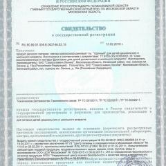 Свидетельство о гос. регистрации НЕКТАР КРАСНОСМОРОДИНОВЫЙ