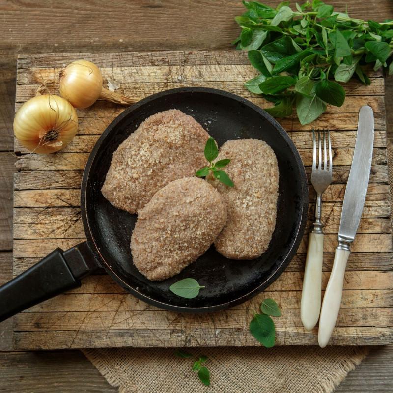 Зразы с картофелем в панировкеНатуральные котлеты из собственного мяса с начинкой<br><br>Вес шт ( 500 г ): 4