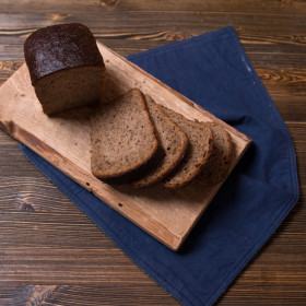 """Хлеб """"Бездрожжевой"""" с семенами льна"""