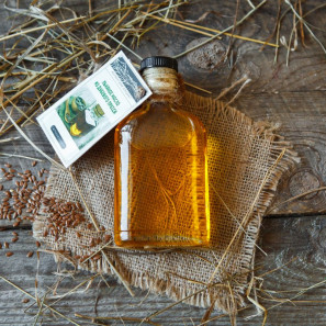 Льняное масло из дубового пресса