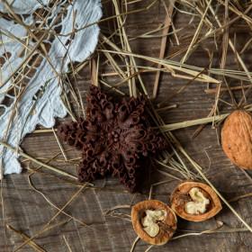 """Шоколад фруктовый """"Снежинка"""" с грецким орехом"""