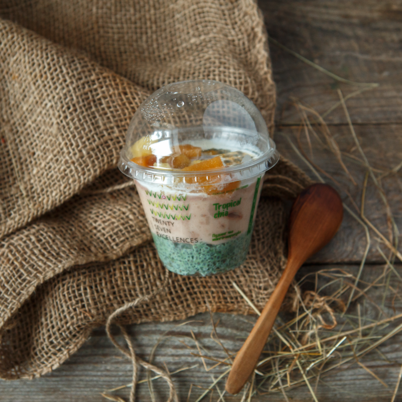 Пудинг чиа манго-маракуйя-ананасПудинг чиа манго-маракуйя — легкий и сытный десерт.<br><br>Высокое содержание белка благодаря входящим в состав спирулине и семенам  чиа  в кокосовых сливках. Свежая маракуйя и манго дарят тропический кислый и одновременно сладкий вкус.  Не содержит продуктов животного происхождения, глютена, консервантов.<br><br>Вес мл.: 270