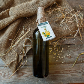 Сыродавленное подсолнечное масло, стекло