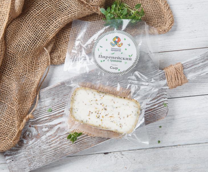 """Сыр """"Пиренейский"""" из козьего молока, с прованскими травами"""