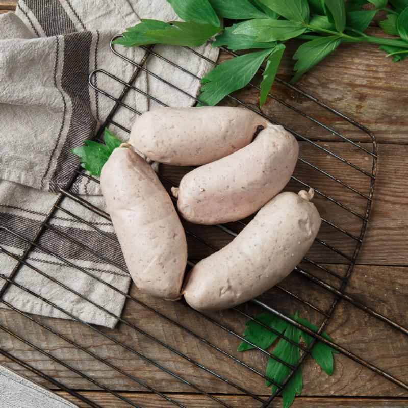 Колбаски для жарки и гриля нежные из индейкиОхлажденные полуфабрикаты из домашней индейки<br><br>Вес г.: 600