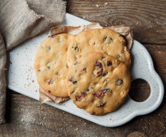 Печенье с клюквой и белым шоколадом