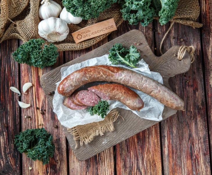 Колбаса из молодой говядины и свинины