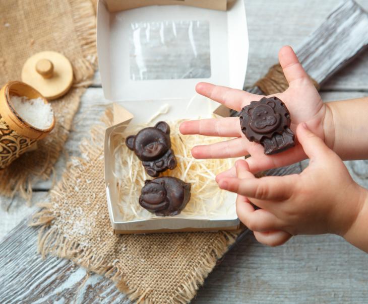 """Фруктовый шоколад с кокосом детский """"Зверята"""""""
