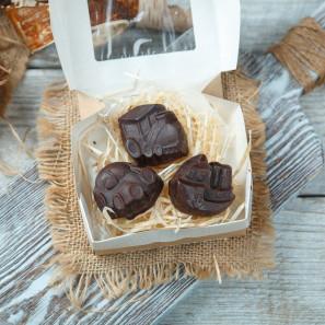 Детский фруктовый шоколад Транспорт с кокосом