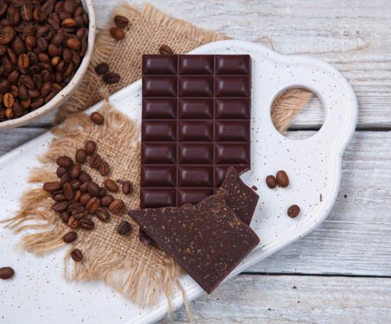 Шоколад ремесленный горький 70% кофе и мускат