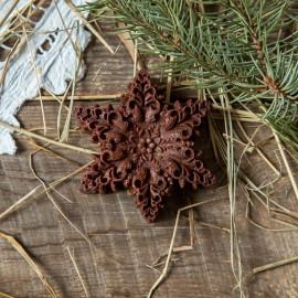 Шоколад фруктовый Снежинка с кешью и дробленым миндалем