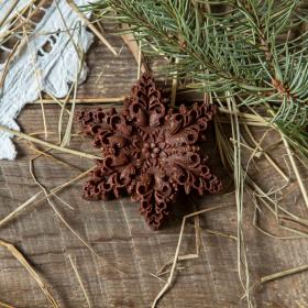 """Шоколад фруктовый """"Снежинка"""" с кешью и дробленым миндалем"""