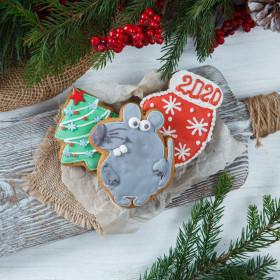 Новогодний набор имбирного печенья