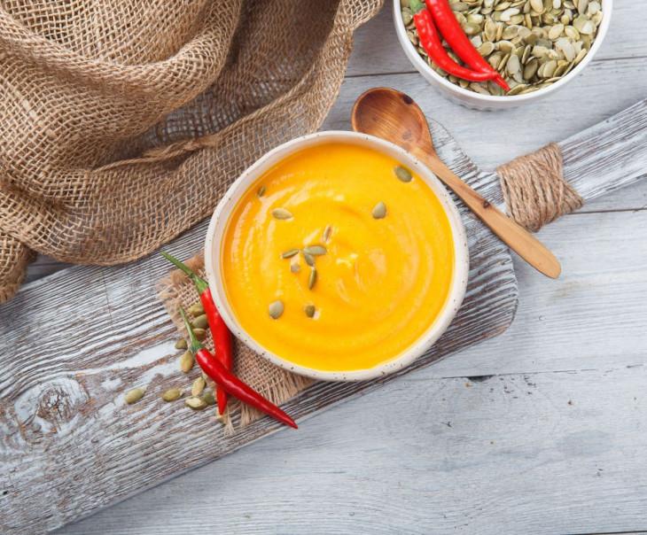 Суп-пюре тыквенный острый