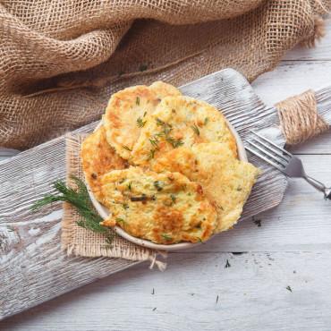 Оладьи картофельные с луком-пореем