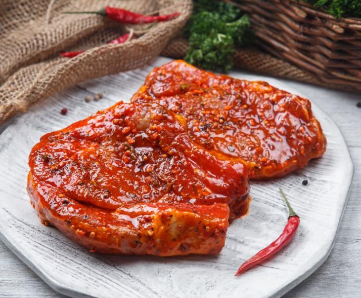 Стейк-гриль свиной в маринаде
