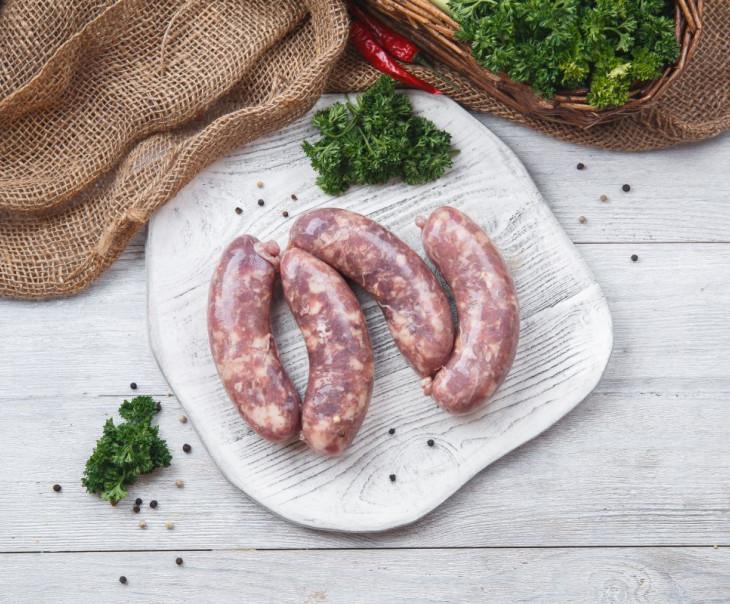 Колбаски из свинины и говядины для гриля