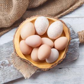 Яйца ассорти (индюшиные, цесариные)