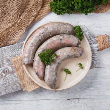 Колбаски для жарки и гриля из молодой говядины с черносливом и клюквой