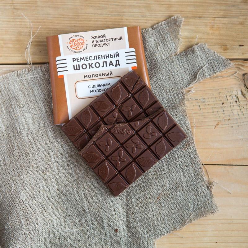 Шоколад ремесленный молочныйСорт для сладкоежек и гурманов! Соединить воедино молоко, мед и какао - настоящее искусство. Этот шоколад получился очень мягким и нежным! Настоящий традиционный сорт. Классика по-новому - вкусно и полезно.<br><br>Вес г.: 90