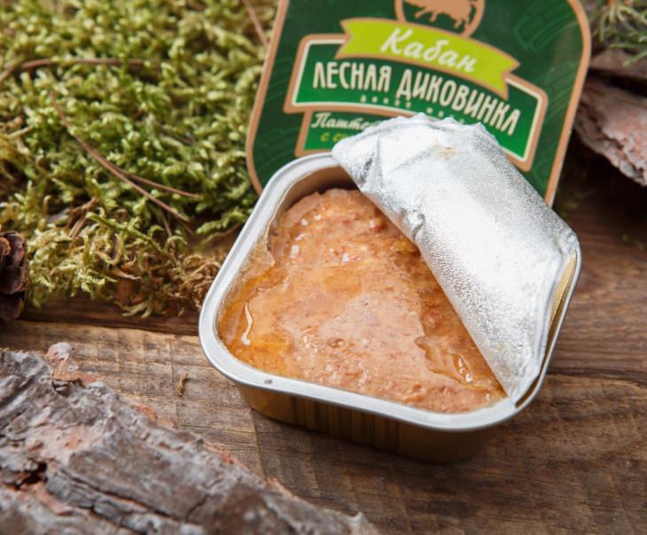 Паштет из мяса кабана с сушеными яблоками (ламистер)