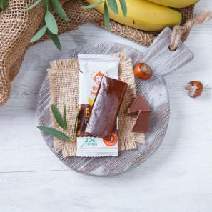 Батончик протеиновый с шоколадом и бананом