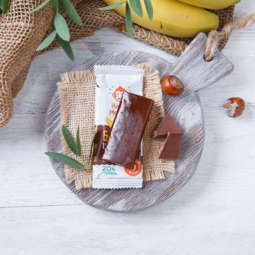 Батончик протеиновый. с шоколадом и бананом