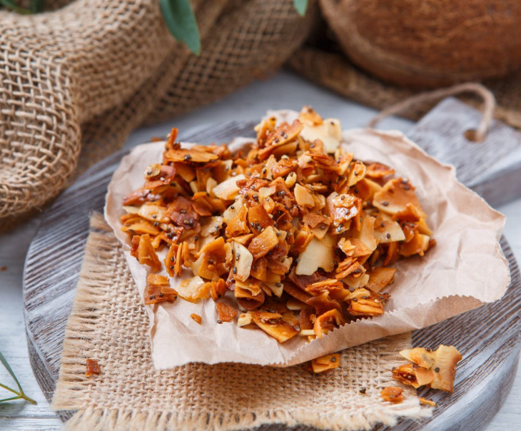 Кокосовые чипсы с семенами чиа