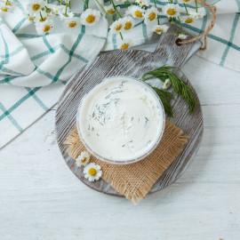 Козий сыр творожный Шевре с укропом