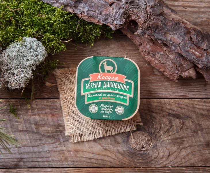 Паштет из мяса косули с грибами (ламистер)