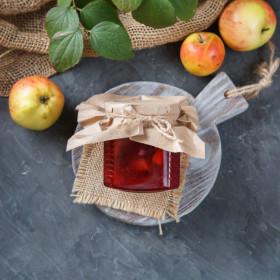 Варенье яблочно-красносмородиновое