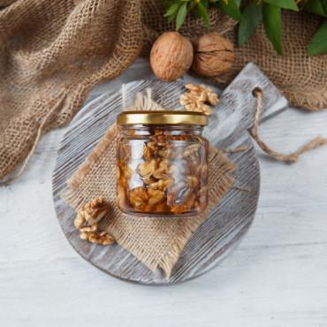 Акациевый мед с грецким орехом