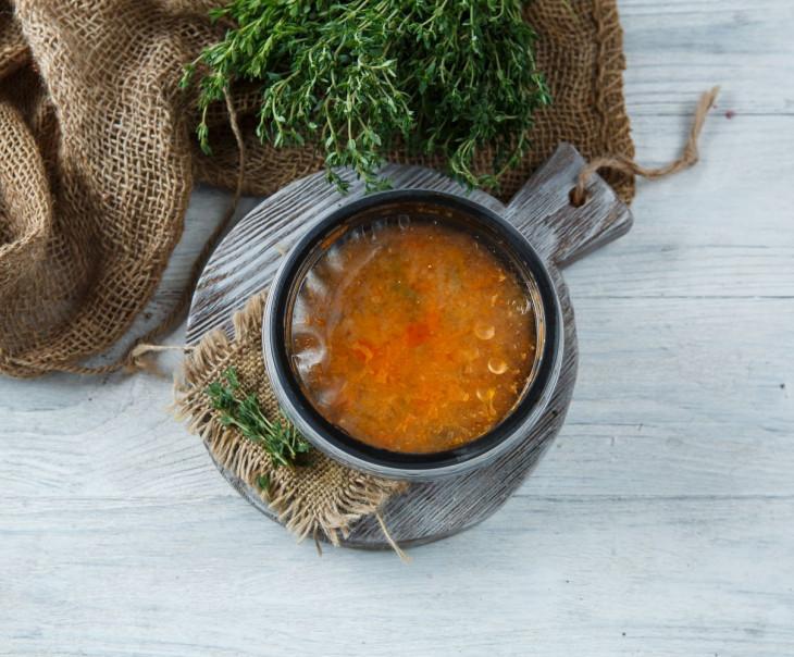"""Суп """"Рассольник"""" вегетарианский"""