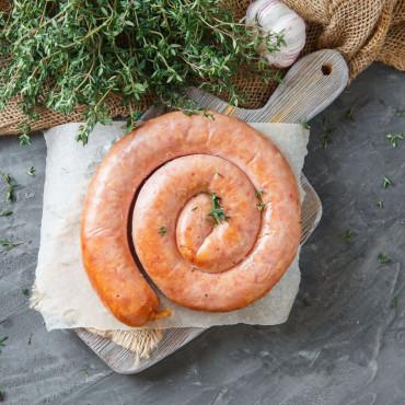 Колбаса из мяса кролика копчено-вареная
