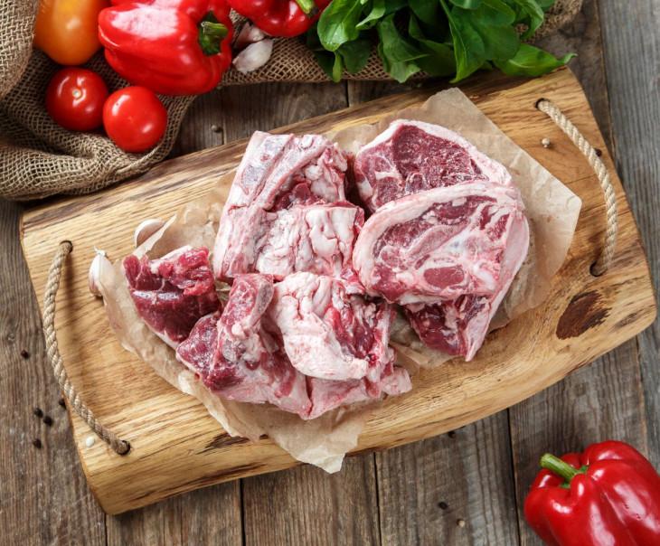 Мясо баранье на кости для супа