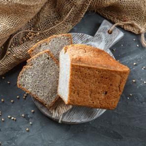 Хлеб Зеленая гречка - чечевица