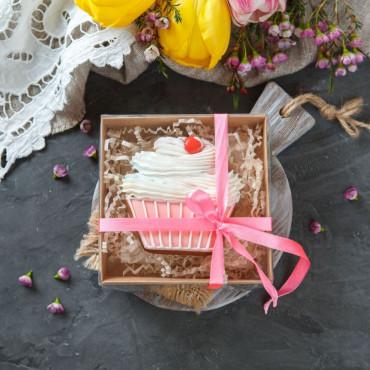 Подарок пряник Капкейк розовый