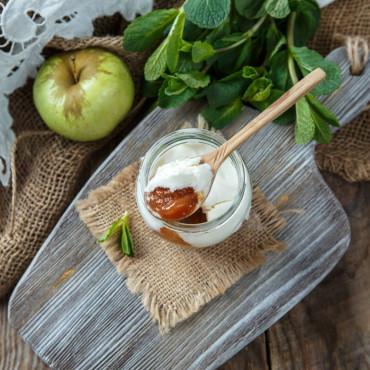 Творожный сыр Облепиха с яблоком из козьего молока