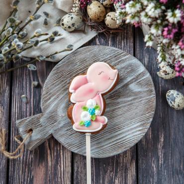 Пряник пасхальный Кролик розовый