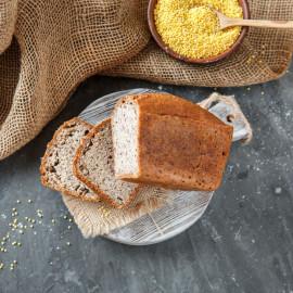 Хлеб Зеленая гречка - пшено - семена льна