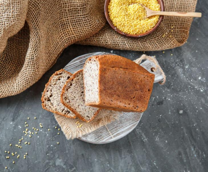 """Хлеб """"Зеленая гречка - пшено - семена льна"""""""