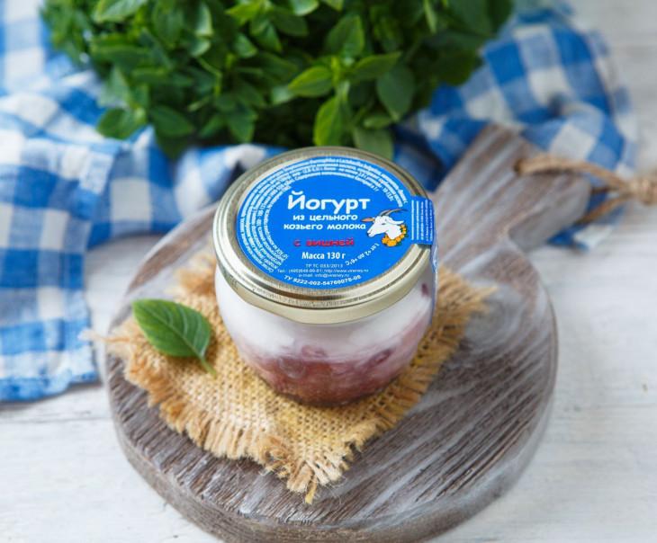 Йогурт из козьего молока с вишней 2,8-5,5%