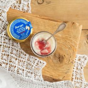 Йогурт из цельного козьего молока термостатный с вишней