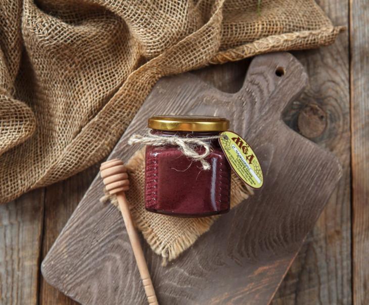 Крем-мед с черникой