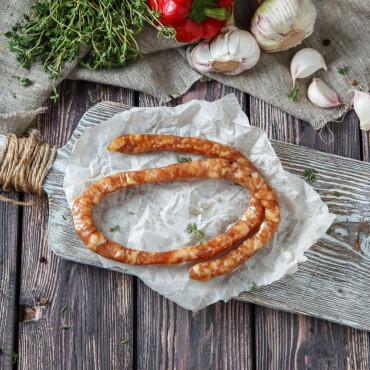 Колбаска домашняя №5 Средиземноморская сырокопченая