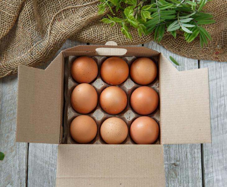 Яйца куриные С1 (крафт 9 шт.)