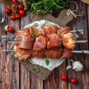 Шашлык свиной в соусе барбекю